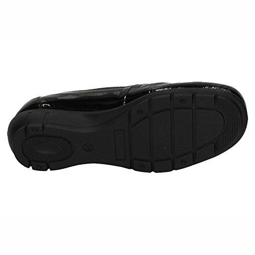 De 18w9001101 Negro Zapatop Mujer Mocasín Piel Zapatos cqHxURn0wU