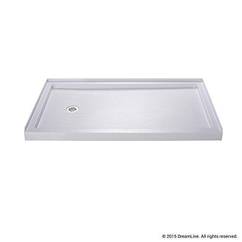 DreamLine SlimLine 30 in. x 60 in. Single Threshold Shower Base, Left Hand Drain, DLT-1130601