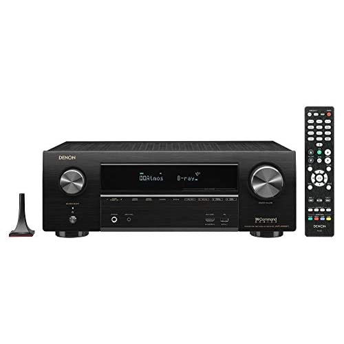 Denon AVR-X1600H 4K UHD AV Receiver | 2019 Model | 7 2 Channel, 80W Each |  3D Audio | New Dolby Atmos Height Virtualization | 6 HDMI Inputs and 1