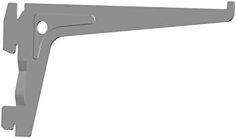 Element System Pro-Support Bracket Single Row 00002 White Wall Shelf 18133 Aluminium Length 15 cm 3 Colours 7 cm Pack of 2