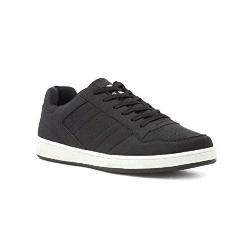 Ascot Hombres Black Lace Up Sneaker Black