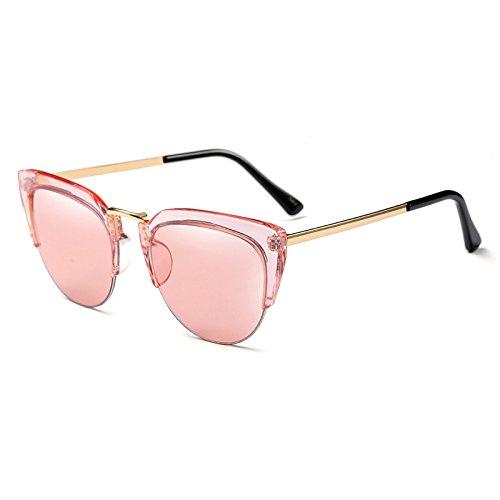 51ff98c1fe Burenqi@ Nueva moda mujer gafas de ojo de gato marca de lentes transparentes  de diseñador