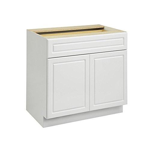 "Heartland Cabinetry Keystone 36"" 1 Drawer/2 Door Base Cabinet B36, White"