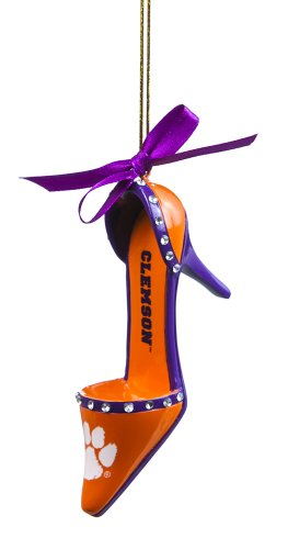 Clemson Tigers Official NCAA 3 inch x 1.5 inch Team Shoe Ornament