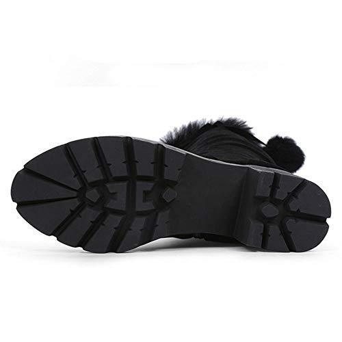 Bottes Black Élégant Taoffen Doux Femmes 2 Hiver Zipper Longue pqfPZXx