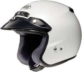 SHOEI RJ PLATINUM R SERIES CRUISER CRYSTAL WHITE SIZE:XLG Motorcycle Open-Face-Helmet