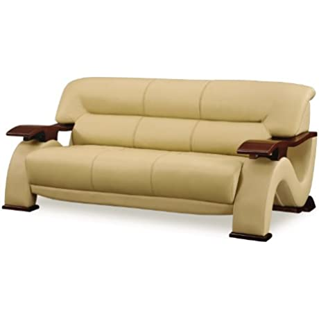 Global Furniture Parker Collection Leather Matching Sofa Cappuccino