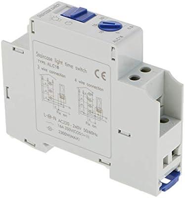 220-240V 16A Interruptor de Relé de Tiempo Temporizador para Escaleras a Tiempo Automático: Amazon.es: Bricolaje y herramientas