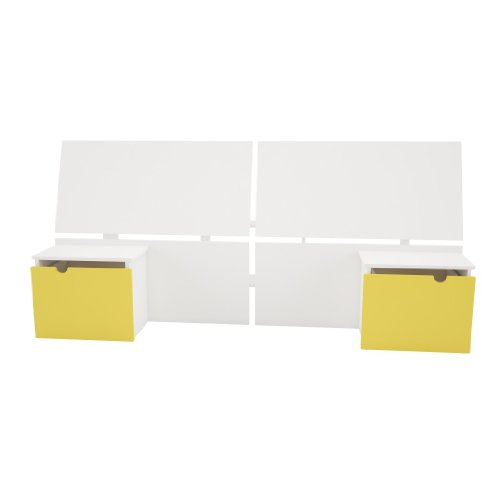 Nexera Taxi Headboard with 2 Built-In Night Stands, Twin