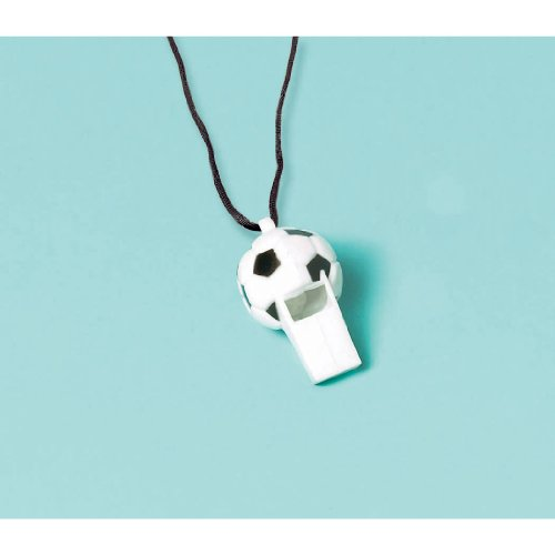 Soccer Whistles (12 count) Party Accessory (Miniature Whistles)