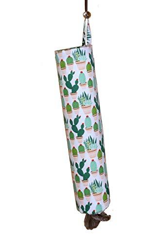 - Plastic Bag Holder | Grocery Shopping Bag Organizer | Carrier | Dispenser. Handmade in the USA (Cactus-Flannel)