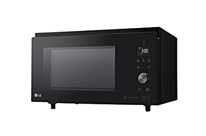 LG MJ3965BPS Horno Microondas Grill Smart Inverter Microondas 1100 W, Grill 950 W, Convección 1850 W, 39 litros de capacidad, Display LED, Plato ...