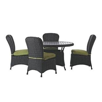 Martha Stewart Living Lake Adela Charcoal 5 Piece Patio Dining Set With  Cilantro Cushions Part 67
