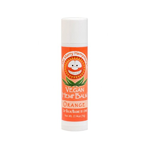 The Merry Hempsters Vegan Hemp Lip Balm Orange, (Single Tube) (Hemp Orange)