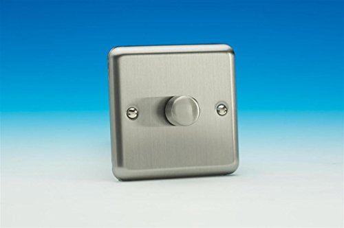 Varilight Classic Matt Chrome 1 Gang 2-Way Dimmer Light Switch