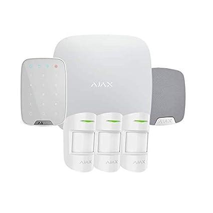 Kit de alarma Pro con teclado, sirena y 3 detectores Blanco ...