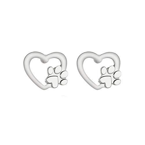 Goddesslili Cute Stud Earrings for Women Girlfriend Girls Ladies Silver Gold Cartoon Bear Vintage Retro Wedding Engagement Anniversary Luxury Jewelry Gift Under 5 Dollars