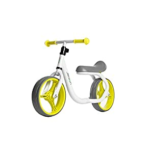 Jetson Green / Yellow Gravity Balance Bike Kid Ride-On Push - Bonus Free Stickers to Customize Look - Child Training Bike Ages 2 to 5 Years - Simple, Fun, No Pedal, Easy Assembly