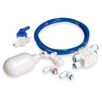"Malida 1/4"" Tube Float Valve Kit for RO Water Reverse Osmosis System water filter Push to Connect Pipe Hose Tube Fittings"