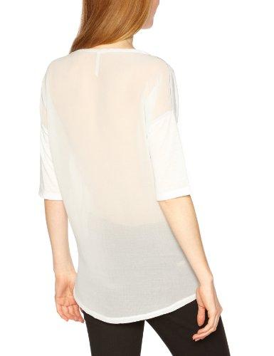 Kaporal - Camiseta con cuello redondo de manga corta para mujer Gris (Liggre)