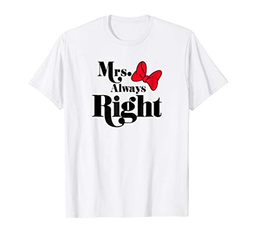 Disney Mrs. Always Right Minnie Mouse T-Shirt