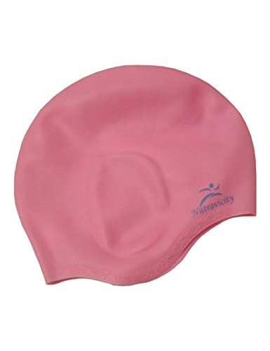 Nutravicity Silicone Swim Cap for Long Hair (Water Polo Gear)