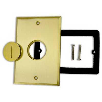 UPC 085339941316, Allied Moulded FB-1CVR Rectangular Floor Box Cover Brushed Brass