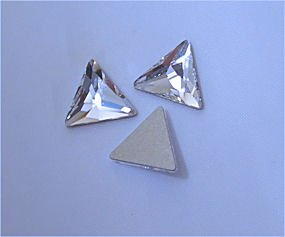 SWAROVSKI Flatback Cosmic Triangle CRYSTAL CLEAR 7.5mm