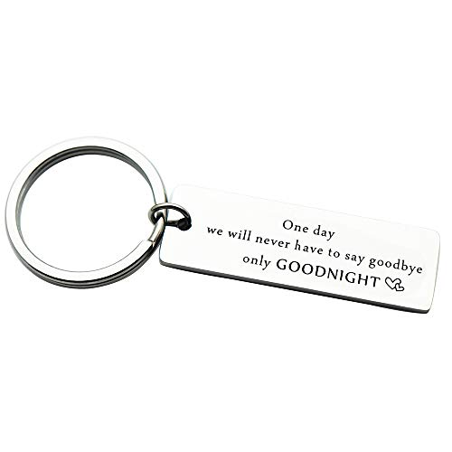 ay Keychain Key Ring Long Distance Relationship Gifts for Boyfriend Girlfriend Deployment Gift (Goodbye-Goodnight) ()