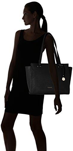 L.Credi Yvonne - Shoppers y bolsos de hombro Mujer Negro (Schwarz)