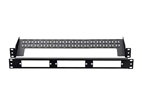 Monoprice Modular Blank Fiber Patch Panel - 19 Inch for 3LGX Cassettes 1U, Easy to Install, Use with Blank Panels