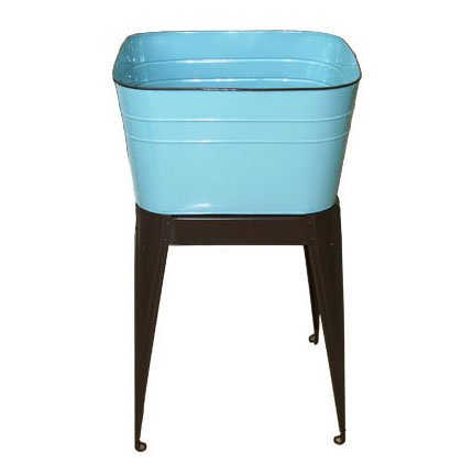 Aqua Enamel Standing Wash Tub by Heart of America