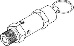 Safety Valve (37PSI) for Tuttnauer TUV011 by Replacement Parts Industries RPI