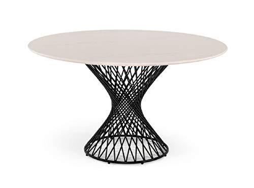 Limari Home LIM-74985 Jonnie Dining Table, White & Black