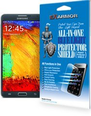 Ex Armor Shield - Samsung Note 4 Screen Protector, HD Clear Film, Blue Light Filter, UV(Ultra Violet) protection, Anti Bubble, Anti Bacterial, Prevent Scratch and Shatter, Reduce Eye Fatigue and Eye Strain (Samsung Note 4) -  Aroo International