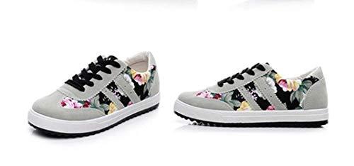 XINGMU Las Mujeres Calzado Casual Nuevas Llegadas Impreso Mujer Mujer Zapatos De Tela Transpirable Feminino Y Zapatos. Negro