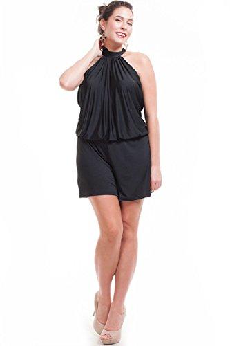 1ea09ba09ff3 Nyteez Women s Plus Size Short High Neck Romper Jumpsuit (3X