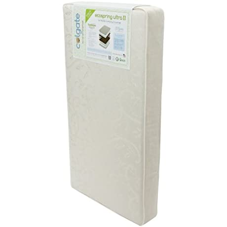 Colgate EcoSpring Ultra II Organic Cotton Innerspring Crib Mattress With Waterproof Cover Ecru