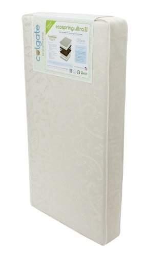 Colgate EcoSpring Ultra II - Organic Cotton Innerspring Crib Mattress with Waterproof Cover, Ecru