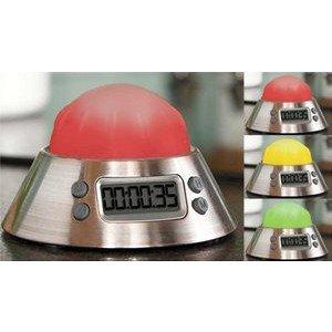 Amco Digital Color Alert Kitchen Timer/Clock, Stainless