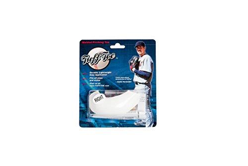 (Tuff Toe Molded Pitcher's Toe Guard (White,)