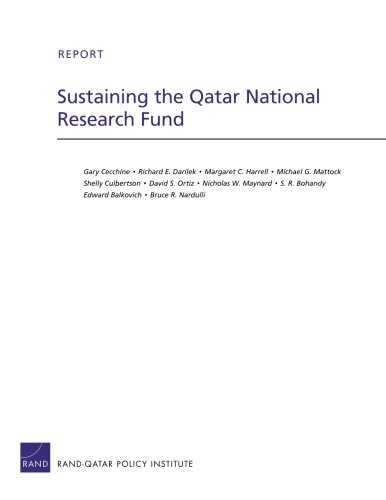 Sustaining the Qatar National Research Fund (Rand Corporation Technical Report)