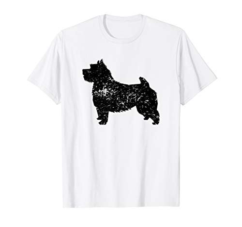 Distressed Norwich Terrier Silhouette Dog Owner T-Shirt