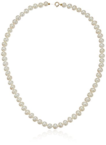 Baby Freshwater Cultured Pearl Necklace with 14k Yellow Gold Clasp (4.5mm), 13