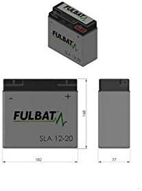 SLA12-20 12V 20Ah Fulbat Lawnmower battery//moto NH1220 12C16A-3B 51584
