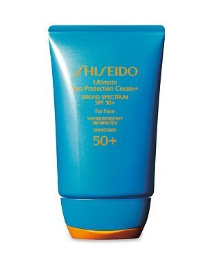 Shiseido Ultimate Sun Protection Cream N' Broad Spectrum SPF 50 for Face for Unisex, 2.1 Ounce