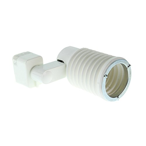 Lightolier 9201WH Lytespan Track Lighting Parr Flex Adapter Track Accessory