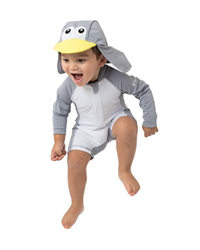 Boys Sunsuit - Sunzies Baby Penguin Rashguard Sunsuit 3-6m