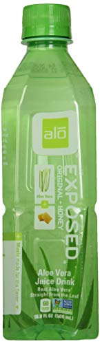 ALO Exposed Aloe Vera Juice Drink, Original + Honey, 16.9 Ounce (Pack of 12)