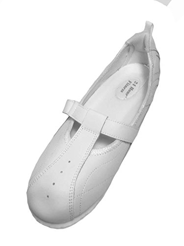 24 hour Comfort Women Wide Width Step in Comfort Shoes 2032 White (10.5WW) by 24 hour